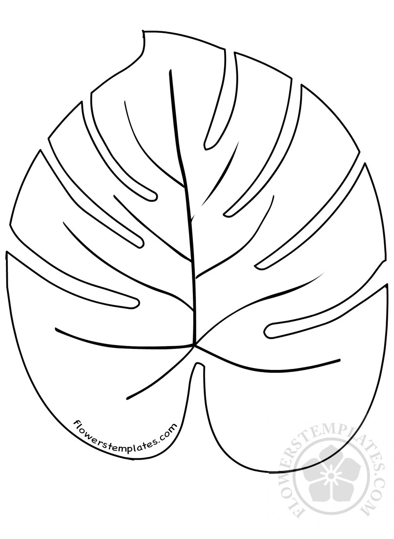 large palm leaves template