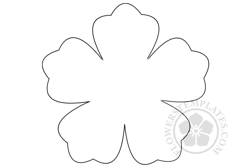 flower five petal template