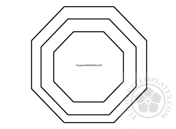 Paper Flower Base Pattern Flowers Templates