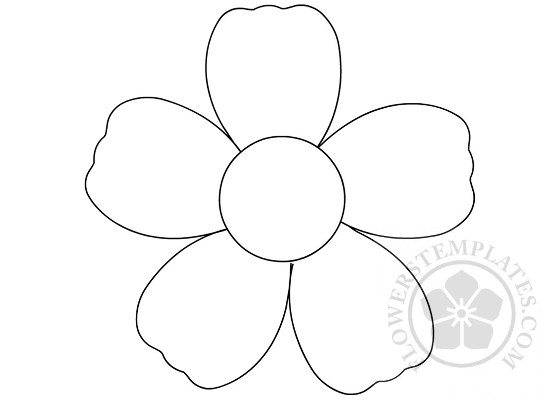 Simple Flower Outline Coloring Page
