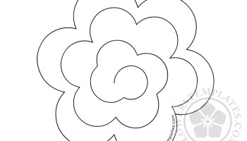 Paper flower craft template flowers templates 3d paper rose rolled paper flower template mightylinksfo