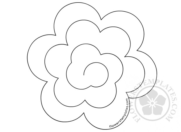 3d Paper Rose Rolled Paper Flower Template Flowers Templates
