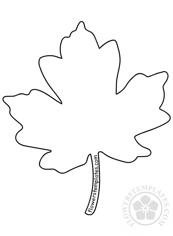 Printable Maple Leaf Pattern Flowers Templates Custom Maple Leaf Pattern