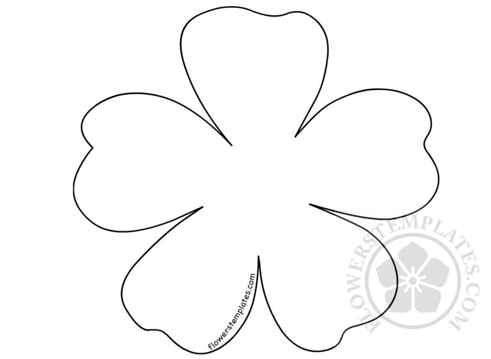 Five Petals Flower Flowers Templates