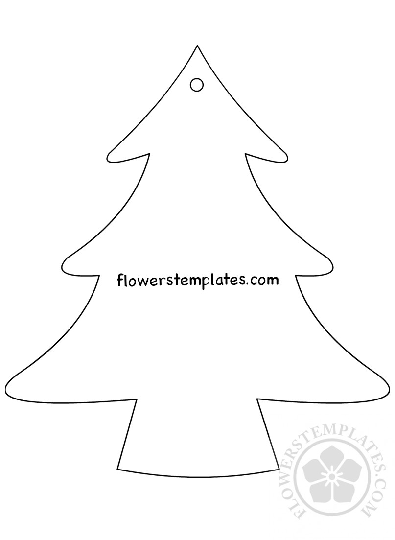 Christmas Tree template Hanging Ornaments   Flowers Templates