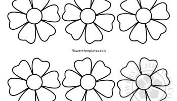 Preschool flower template flowers templates easy flower templates felt flower maxwellsz