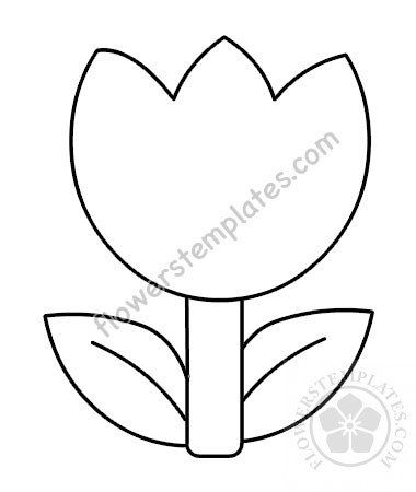 graphic about Tulip Template Printable identify Tulip Template Printable - Floss Papers