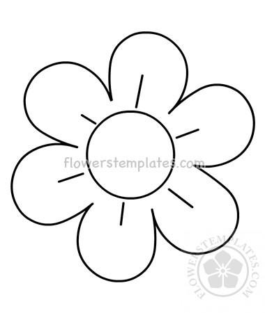 Flower outline 6 petals printable