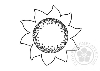 photograph relating to Sunflower Template Printable identify Superior Sunflower template printable Bouquets Templates