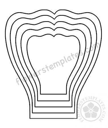 picture about Rose Template Printable named Heavy Paper rose petal template Printable Bouquets Templates