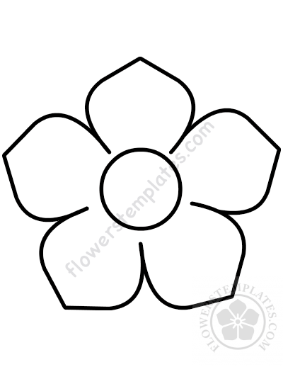 graphic regarding Flower Template Printable referred to as Flower PDF printable template Bouquets Templates