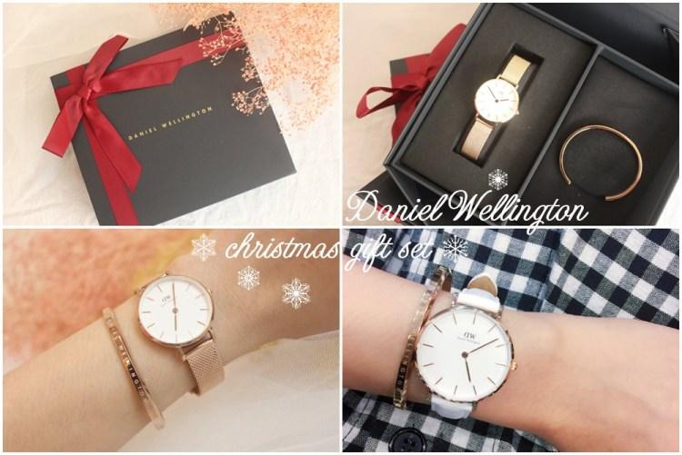 【穿搭】DW的夢幻聖誕禮盒~玫瑰金屬錶+白色皮革錶(85折折扣碼flowery)