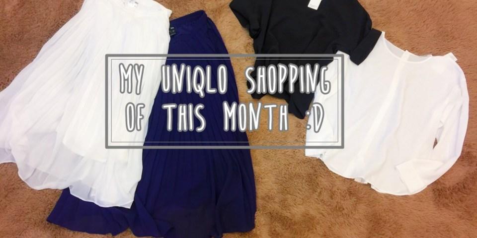 【每月的UNIQLO戰利品】垂墜風OL穿搭+仙氣雪紡百褶裙穿搭(也有旺財BABY的喔)