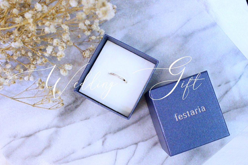 【Wedding Anniversary Gift】第四年的結婚紀念日禮物:日本輕珠寶festaria玫瑰金線戒~一只永恆的愛eternity ring