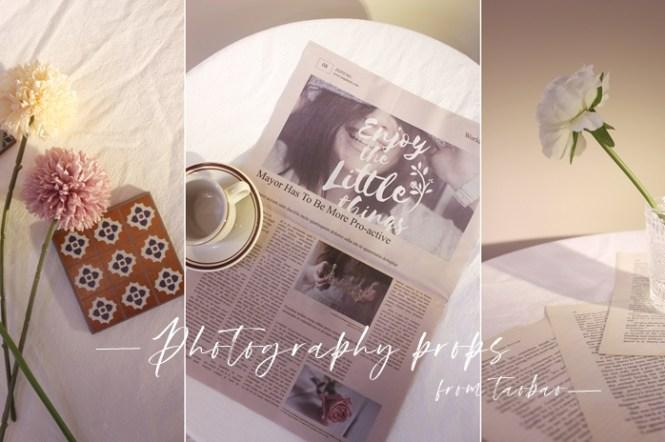 【淘寶】攝影道具小物補貨!濃濃復古風小咖啡杯、英文報紙、雕花玻璃杯~