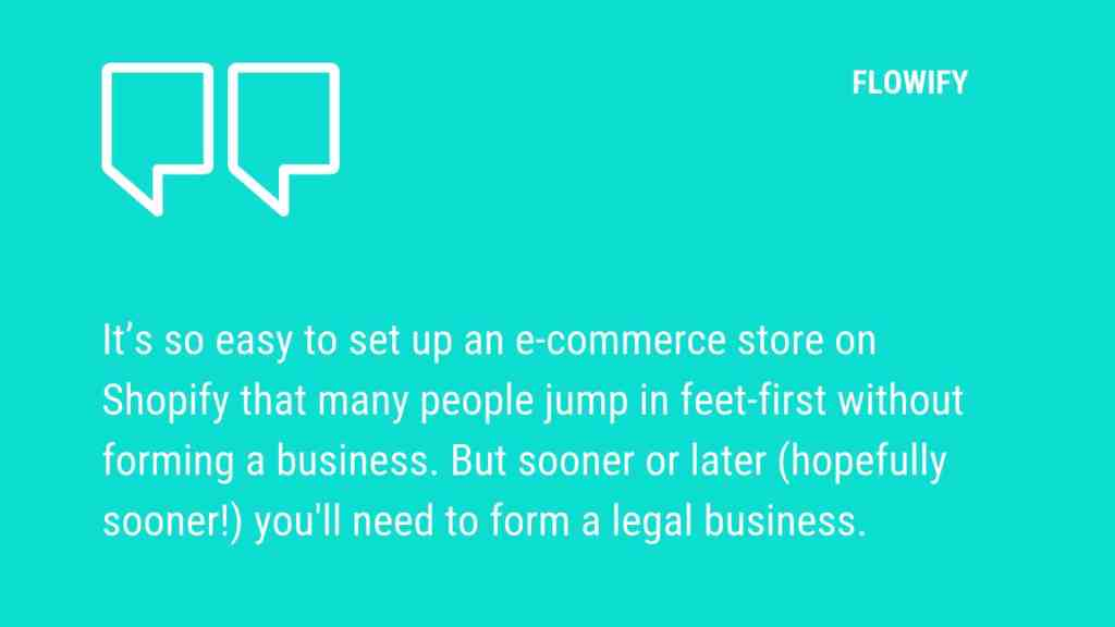 Forming Shopify ecommerce business