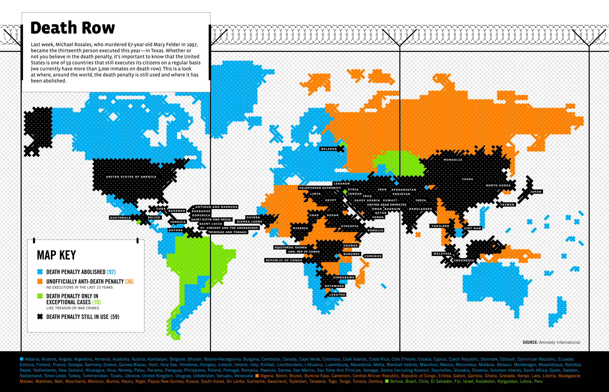 Death Penalty Laws Around the World FlowingData