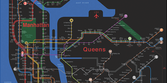 Subway Map New York Manhatten.Designing An Easier To Read Nyc Subway Map Flowingdata