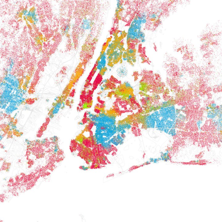 Race and ethnicity mapped by block | FlowingData