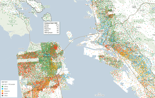 Mapping Demographics Of Every Block And City In America FlowingData - Us census map by race