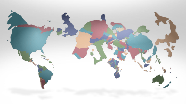 Our changing world in cartograms | FlowingData on choropleth map of the world, cartogram of population density of pennsylvania, map map of the world, cartogram map europe, chart map of the world, scale map of the world, cartogram map of the caribbean, geography map of the world, cartogram map mexico, global map of the world, gis map of the world,
