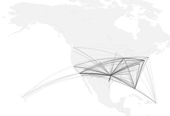 Drawing Lines In Asp : How to map connections with great circles flowingdata