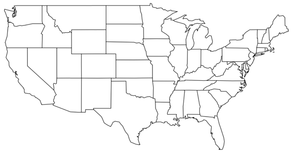 Draw On Blank Us Map - Printable us map blank