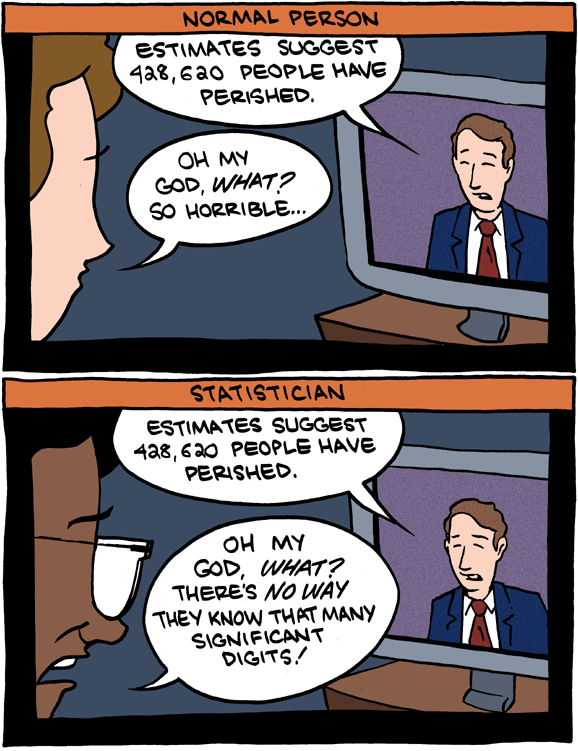 Statisticians and significant digits