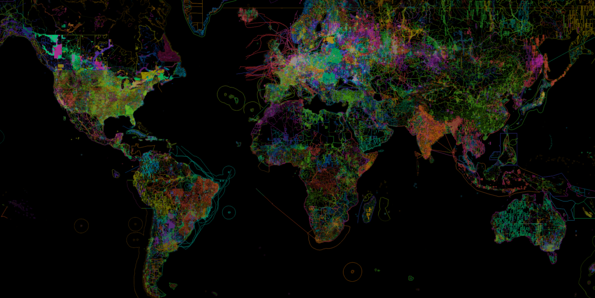 OpenStreetMap, the work of individuals visualized