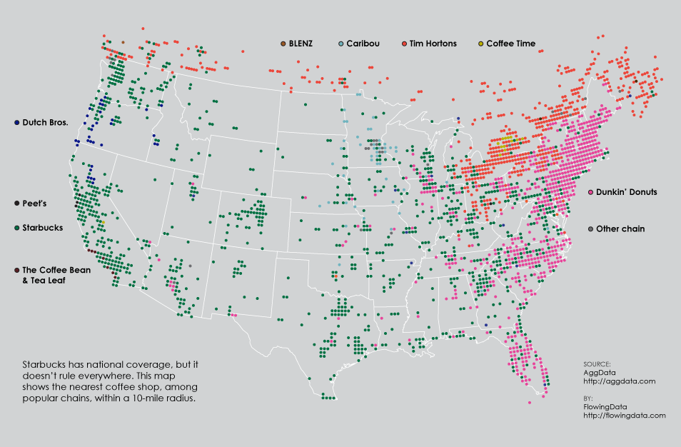 Coffee Place Geography | FlowingData on starbucks the coffee belt map, starbucks store locator, wi-fi locations map, starbucks china map, starbucks global map, starbucks wikimedia commons map, starbucks globalization map, starbucks world map,