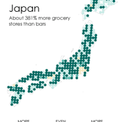 Where Bars Outnumber Grocery Stores | FlowingData