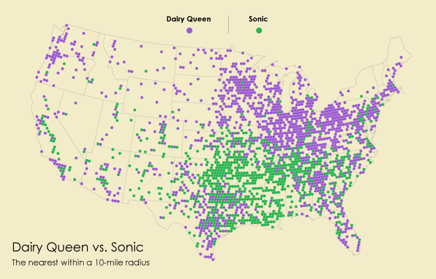 Burger Place Geography | FlowingData