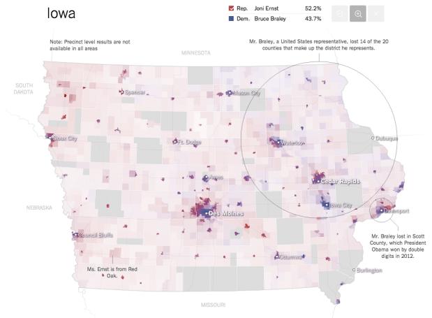 Senate results maps | FlowingData
