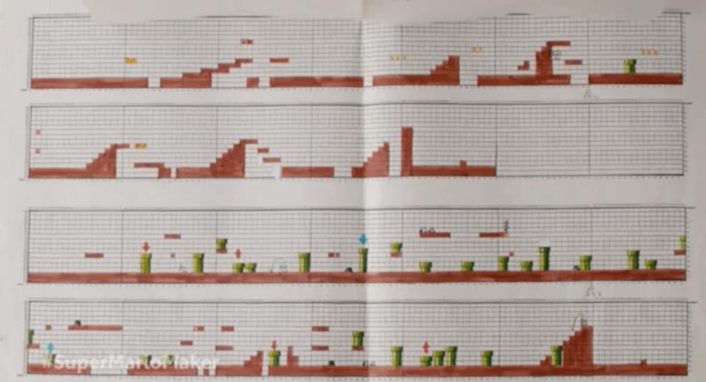 Super Mario Bros. was designed on graph paper