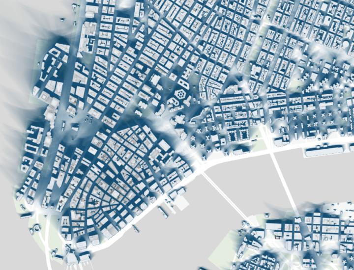 Map of New York City shadows  FlowingData