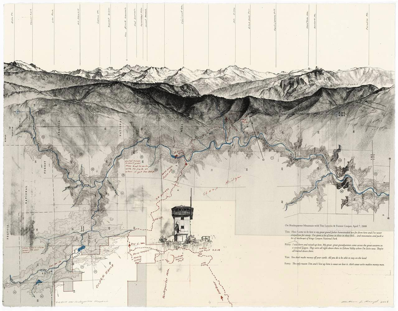 Mixing cartography and landscape drawing