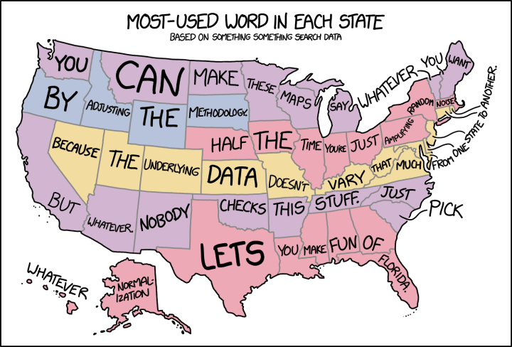 xkcd: Words in every state map | FlowingData