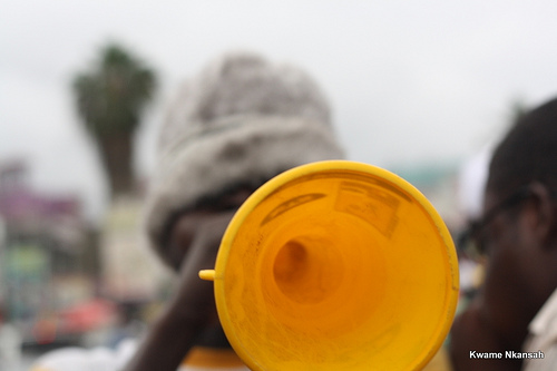 Vuvuzela Up close and personal by voltageek via Flickr