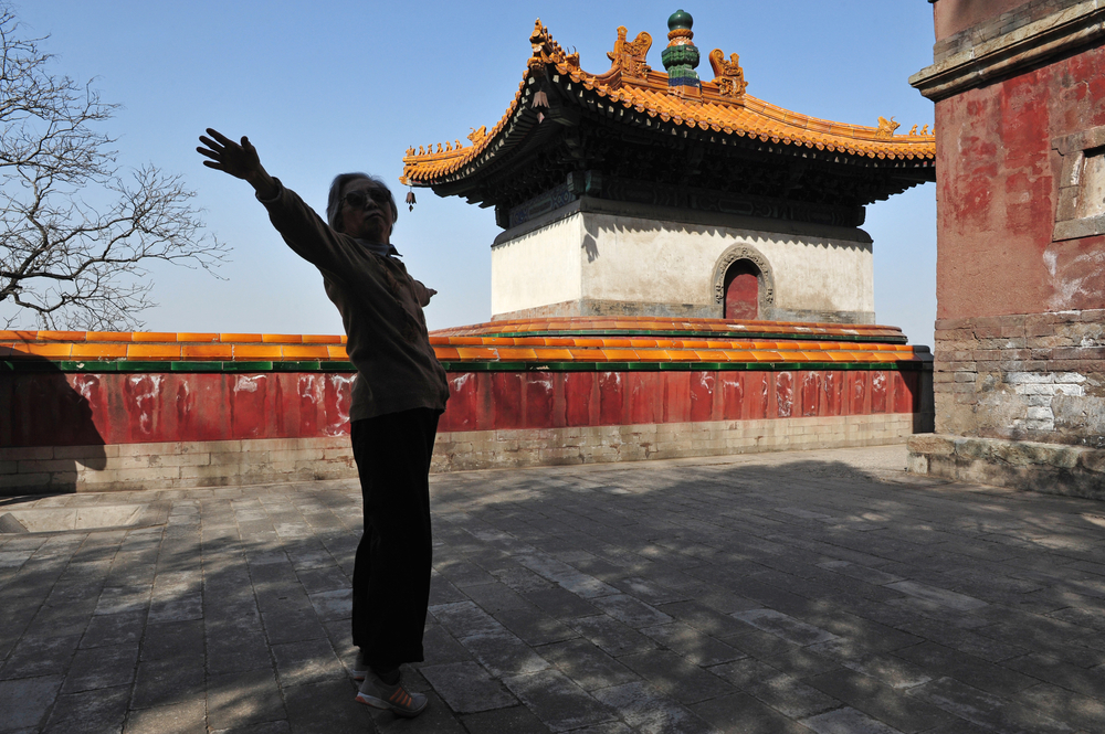 Image of Woman Doing Qigong in China