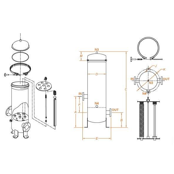 Filtro multi cartucce filtranti Flowise_scheda tecnica