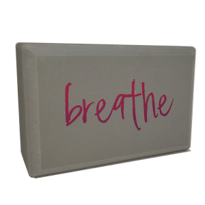 Pink Breathe Yoga Block