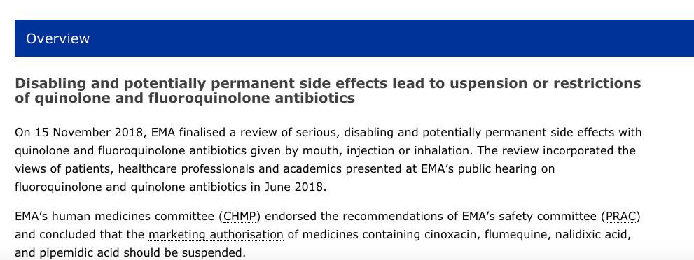 EMA Final Decision re Fluoroquinolones