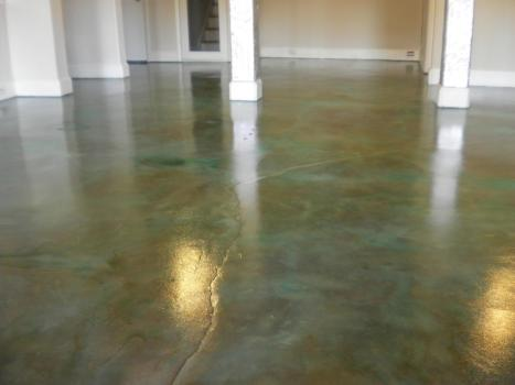 Acid Stained Concrete Flooring Charlotte NC Floyds