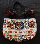 """Carrying objects-Thailand-Thai-Embroidered cloth-11 x 17 1/2"""""""