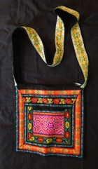 Purse/Bag with regular and metallic embroidery