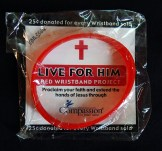 "Brings followers to Jesus-USA-American Christians-Plastic/paper-Diameter 2 1/2"", width of band 1/2"""