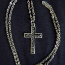 "Sign of Christianity/Protection-Global-Christian-Silver plate-11 1/4"" long, cross 1 1/2"" long"