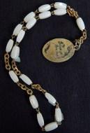 "Protection/Prayer counter-Canada/USA-Roman Catholic-Metal/White beads-7 1/2"""
