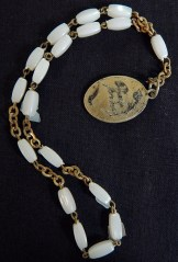 Protection/Prayer counter-Canada/USA-Roman Catholic-Metal/White beads-7 1/2""