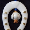 Horseshoe and garlic amulet